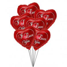 Te amo Bouquet de balão (6 balões de Mylar)