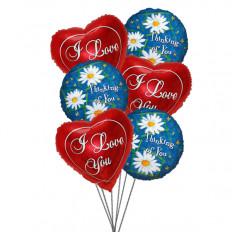 Bouquet de balões pensativo (6 balões de Mylar)