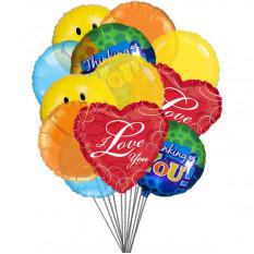 Lovely Balloons (6-Mylar & 6-Latex Balloons)