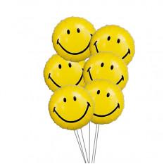 Bouquet de balão de smiley (6 balões de Mylar)