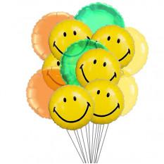 Grandes balões de sorriso (6-Mylar & 6-Latex Balloons)