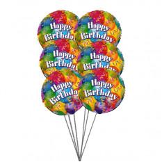 Balões de aniversário espumantes (6 balões de Mylar)