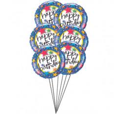Balões coloridos (6 balões Mylar)