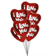 Te amo bolha de balões