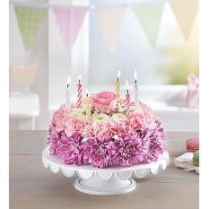 Pastel de Bolo de Flor de Aniversário (Pequeno)