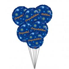 Parabéns Balões (6 Mylar Balloons)