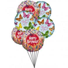 Balões cheios de emoção (6 Mylar Ballons)