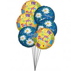 Balões de doce aniversario amarelo