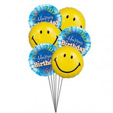 Balões de aniversario de smiley