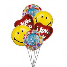 Balões Sweet Smiles (6 balões Mylar)