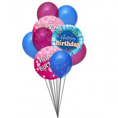 Bola de adorável feliz aniversario balões (6 Latex e 3-Mylar balões)