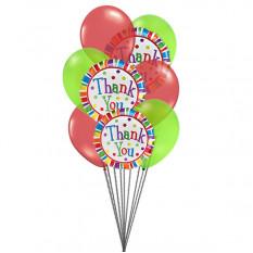 Agradecemos muito balões (6 balões de látex e 3-mylar)