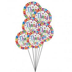 Agradeço muitos balões (6 balões Mylar)