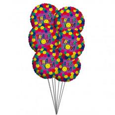 Muito obrigado balões (6 balões Mylar)