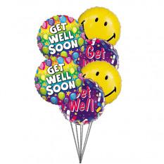 Sorria e deseje Ganhe bem (6 balões Mylar)