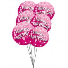 Balões Rich Birthday (6 balões Mylar)