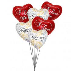Balloons bouquet de amor (6 Mylar Balloons)