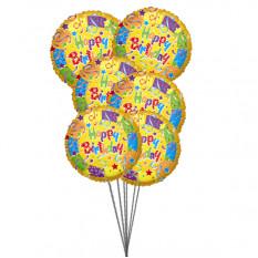 Buquê de melhores balões de aniversário (6 balões Mylar)