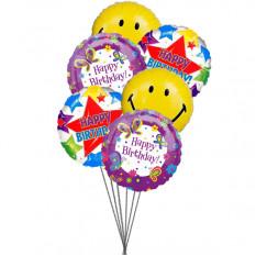 Balões de festa de aniversário (6 balões Mylar)