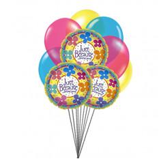 Apenas por você (6 Latex & 3 Mylar Balloons)
