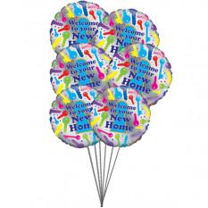 Casa feliz (6 balões Mylar)