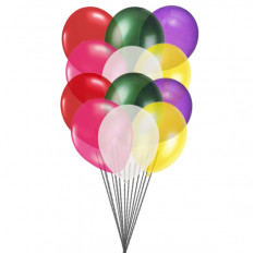 Balões coloridos (12 balões de látex)