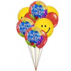 Feliz aniversário colorido
