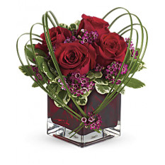Giftblooms Sweet Thoughts Bouquet com rosas vermelhas (pequenas)