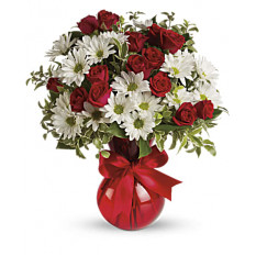 Red, White And You Bouquet by Giftblooms (Small)