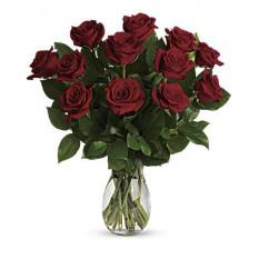 Meu verdadeiro buquê de amor com rosas de caule longo (pequeno)