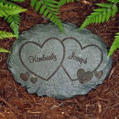 Pedra do jardim de dois corações