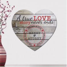 Coração de madeira vintage