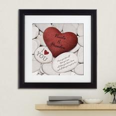 O amor balança o impressão quadro quadrado