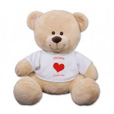 Urso de pelúcia de coração personalizado - 11 polegadas