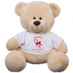 Urso de peluche personalizado do bastão de doces - 11 polegadas