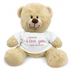 Eu te amo personalizado Teddy Bear dos corações
