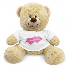 Urso de peluche personalizado da seta de amor