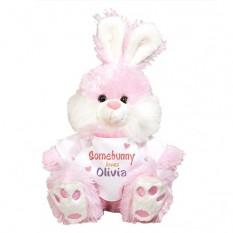 O Somebunny personalizado ama-me coelho cor-de-rosa