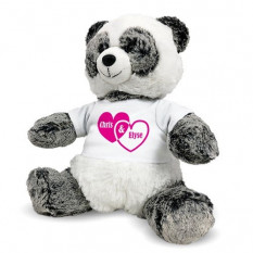 Urso de Panda personalizado - casais corações - 12 polegadas