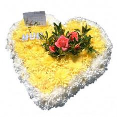 Coração sinfónico amarelo