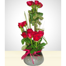 Inspiração: Arranjo de 15 Rosas