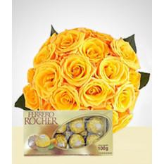 Conjunto de rosas e sentimentos