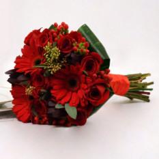 Memórias: Bouquet de rosas e gerberas
