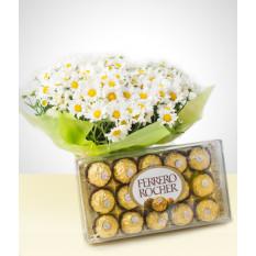 Floração: Bouquet Margaridas + Chocolates