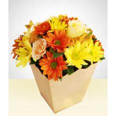 Liberdade: flores selvagens em vaso