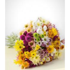 Para sempre: Bouquet de margaridas coloridas