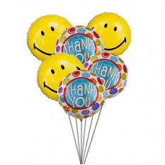 Obrigado Balloon Bouquet (6 Mylar Balloons)
