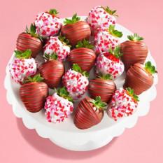18 morangos com cobertura de chocolate Morangos com cobertura de chocolate (tamanho do divertimento)