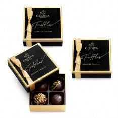 Trufas de chocolate de assinatura, conjunto de 3, 4 pc. cada
