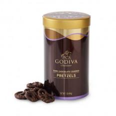 Dark Chocolate Coberto Pretzel Canister, 1 lb.